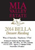 2014 Bella Dessert Riesling
